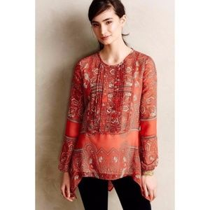 Anthropologie Love Sam Kamala Paisley Tunic